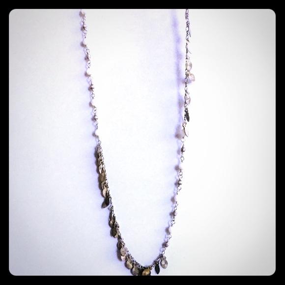 Chan Luu Jewelry - Chan LUU Sterling Silver Leaf Tassel Necklace NWT